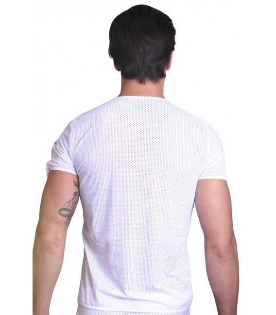 weißes T-Shirt the Shadow von Look Me Großbild