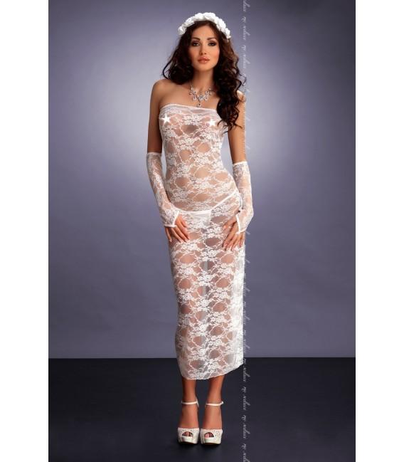 weißes Kleid Branca von MeSeduce Dessous Großbild