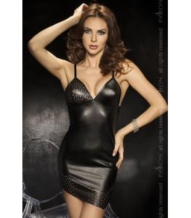 schwarzes Nachtkleid Roca mit T-String von Passion Second Skin