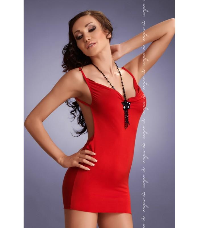 01a817e48add rotes Kleid Lara mit T-String von MeSeduce Dessous - FashionMoon