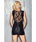 schwarzes Wetlook-Kleid Camparia von 7-Heaven Dessous