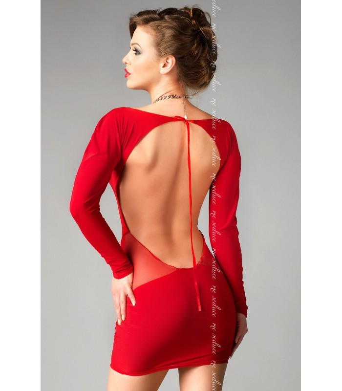 63c4b837dfb3 rotes Kleid Sophia mit T-String von MeSeduce Dessous - FashionMoon