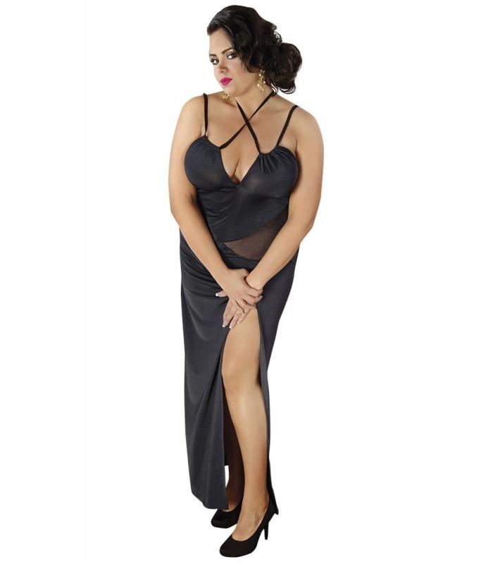 schwarzes langes Kleid C/4002 von Andalea - FashionMoon