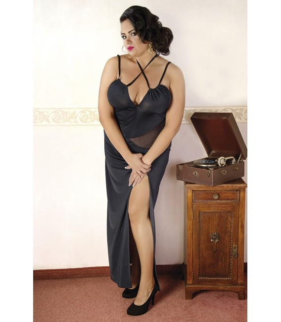 Großbild schwarzes langes Kleid C/4002 von Andalea