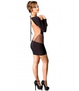 schwarzes Kleid Sophia mit T-String von MeSeduce