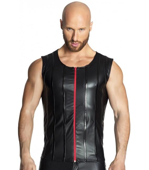 schwarzes Muskel-Shirt H033 von Noir Handmade
