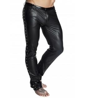 schwarze lange Hose H039 von Noir Handmade