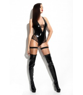 schwarzer Wetlook-Body Claudia von Demoniq Mistress Collection