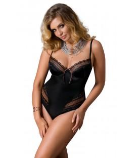 schwarzer Damenbody Evane von Passion Plus Size