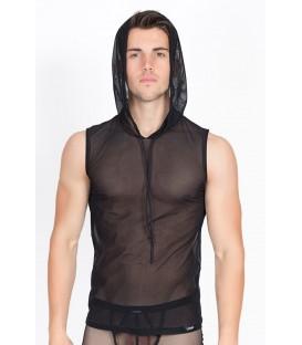schwarzes V-Shirt Malibu 2 92-77 von Look Me