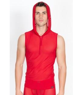 rotes V-Shirt Malibu 2 92-77 von Look Me