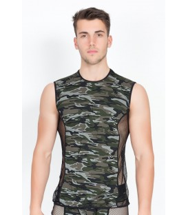 camouflage V-Shirt Military 58-77 von Look Me