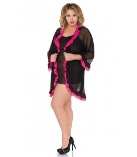 schwarz/pinkes Set SB/1034 von Andalea