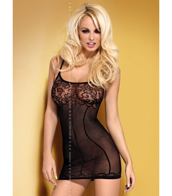 Babydoll OB- D204 dress Schwarz