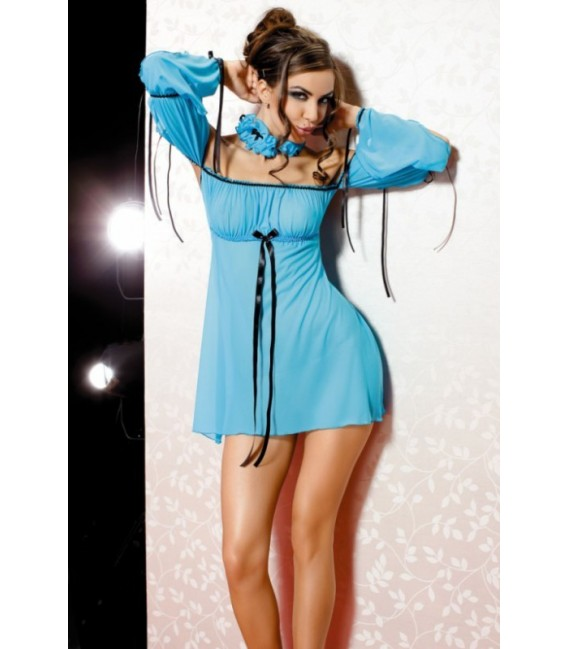 Babydoll AN Xenia Set türkis Minikleid - Bild 1 Großbild