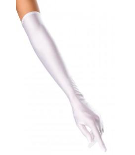 extra lange Satinhandschuhe weiß - AT10372