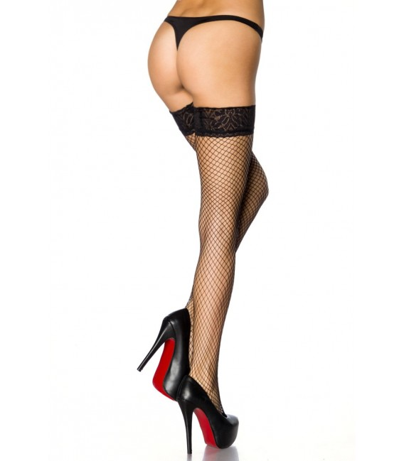 Netz-Stockings schwarz - AT10801 Bild 3