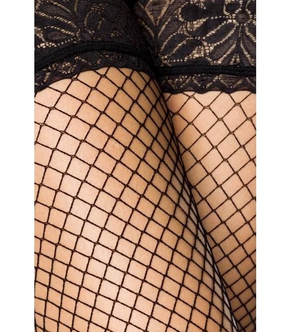 Netz-Stockings schwarz - AT10801 Bild 4