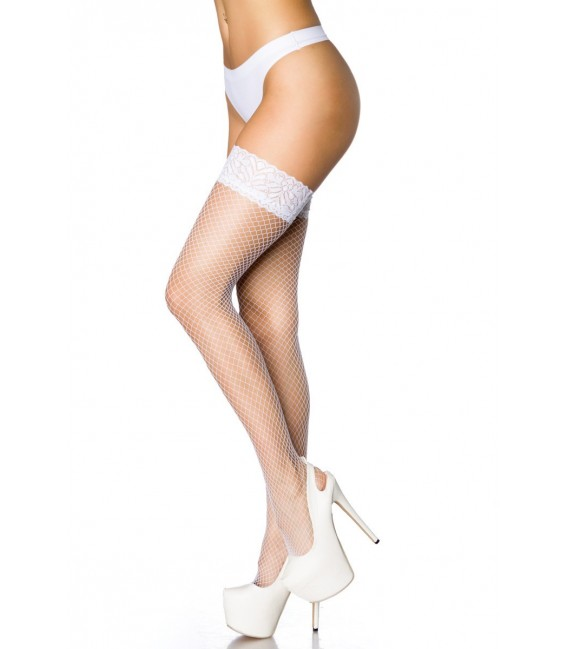 Netz-Stockings weiß - AT10801 Bild 2