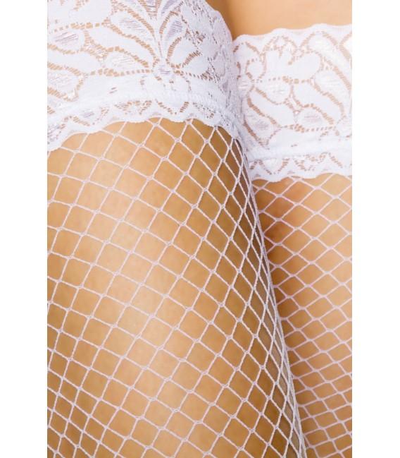 Netz-Stockings weiß - AT10801 Bild 4