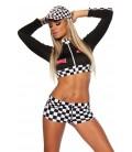 Racing-Hot-Pants-Set schwarz/weiß - AT10955