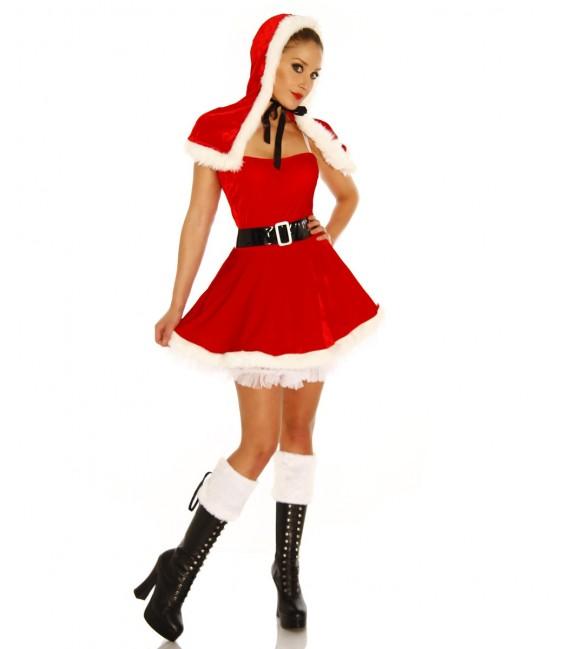 Weihnachtsmann-Petticoat-Kostüm