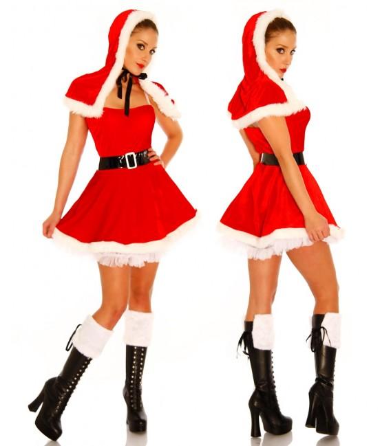 Weihnachtsmann-Petticoat-Kostüm Bild 2