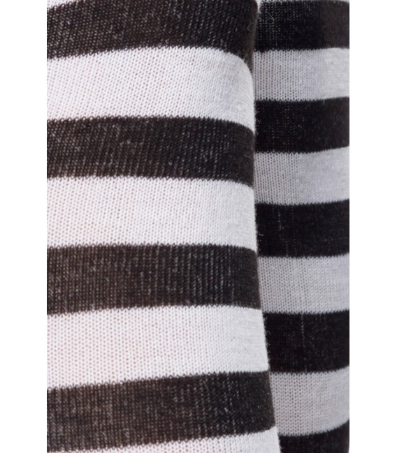Ringel-Overknees schwarz/weiß Bild 4