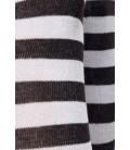 Ringel-Overknees schwarz/weiß - AT11238