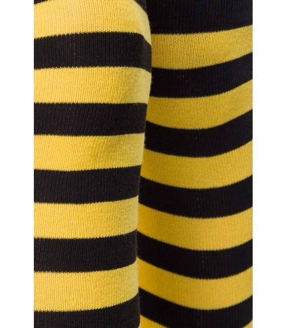 Ringel-Overknees schwarz/gelb - AT11238 Bild 4