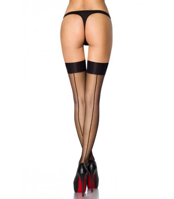 Stockings mit Naht schwarz
