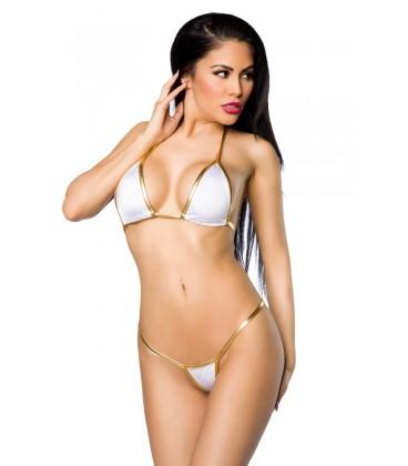 Brasil-Bikini weiß/gold - AT11436