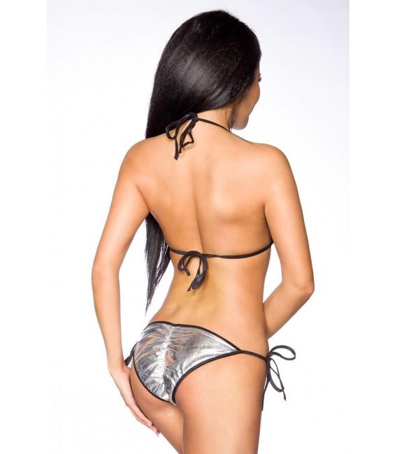 Bikini silber/schwarz Bild 2