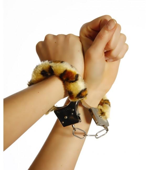 Handschellen mit Plüsch leo