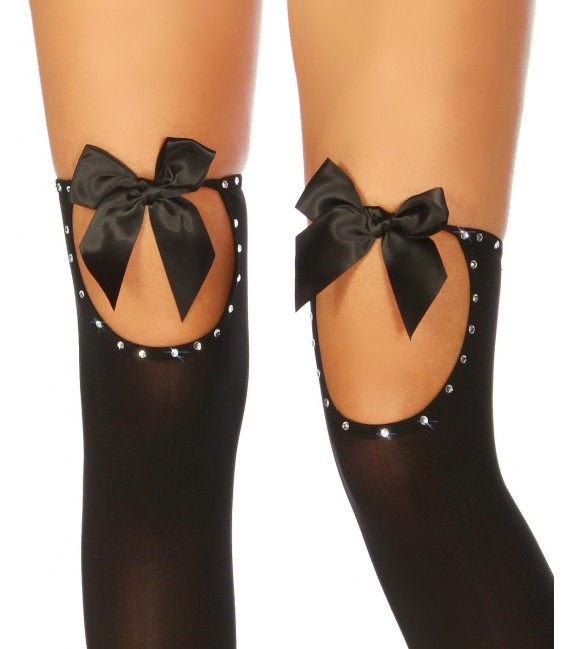 Stockings mit Strass und Satinschleifen Bild 2