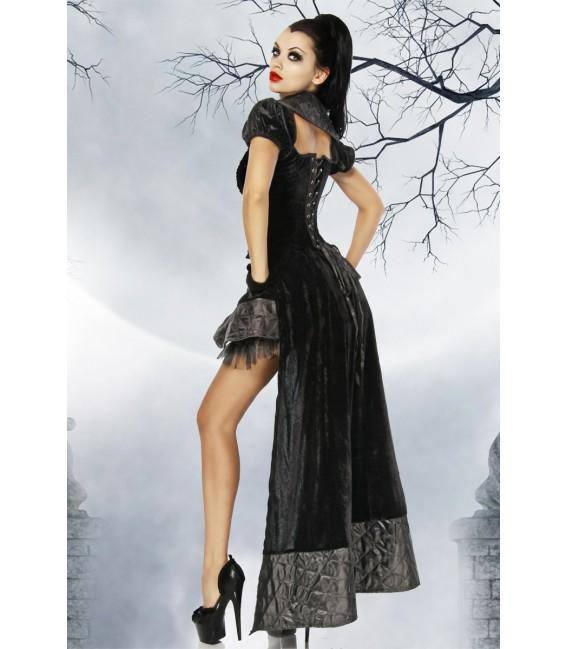 Hochwertiges Vampir-/Gothic-Kostüm aus Samt Bild 2