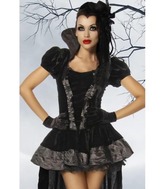Hochwertiges Vampir-/Gothic-Kostüm aus Samt Bild 3