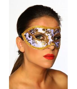 Maske gold/weiß - AT11850