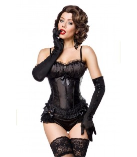 Burlesque-Corsage schwarz - AT11863