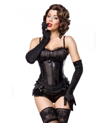 Burlesque-Corsage schwarz - AT11863