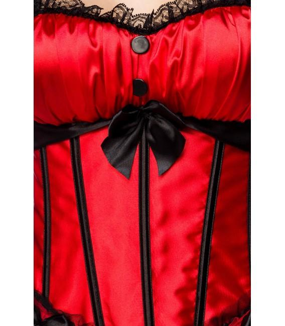 Reizvolle Burlesque-Corsage in rot/schwarz Bild 3