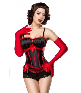 Burlesque-Corsage schwarz/rot - AT11863