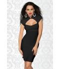 Kleid mit Schnürung schwarz - AT11888