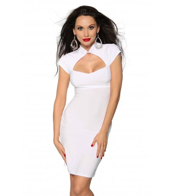 Kleid mit Schnürung weiß Bild 2