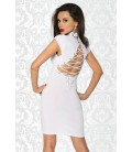 Kleid mit Schnürung weiß - AT11888