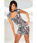 Kleid mit Schnürung zebra - AT11888