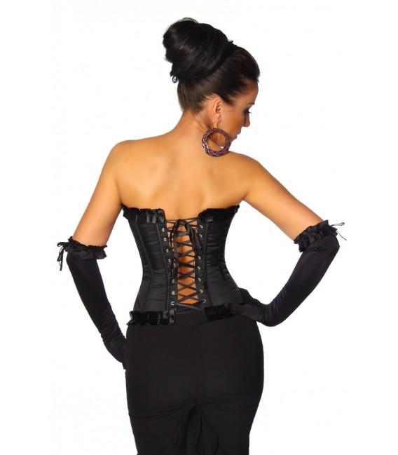 Burlesque-Satin-Corsage schwarz - AT11940 Bild 2