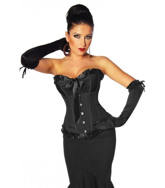 Burlesque-Satin-Corsage schwarz - AT11940 Bild 3