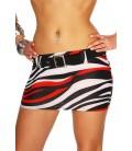 Minirock weiß/schwarz/rot - AT12015
