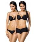 Push-Up-Bikini-Set schwarz - AT12029